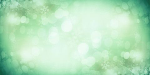 Green bokeh blur background / Circle light on green background. Wall mural
