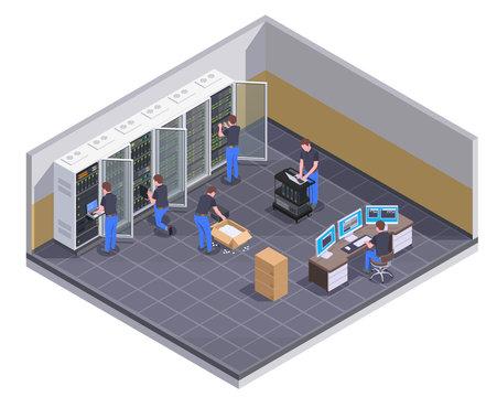 Data Center Isometric View