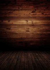 empty wooden inteiror room.