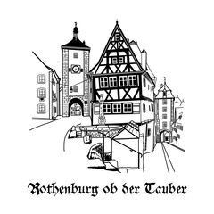 Rothenburg ob der Tauber town in Germany