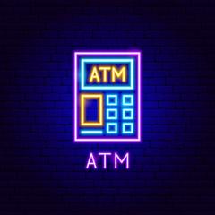 ATM Neon Label