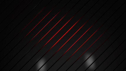 Wall Mural - Abstract red and black futuristic background, business teamplate . 3d render illustration
