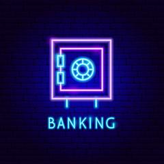Banking Safe Neon Label
