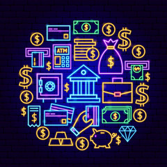 Banking Neon Concept