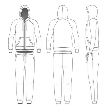 Clothing set of man hoodie and pants.