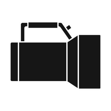 Vector illustration of flashlight and underwater logo. Graphic of flashlight and light stock vector illustration.