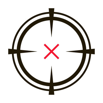 Eye target vector icon.Black vector icon isolated on white background eye target.
