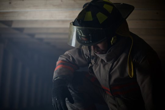 Fire fighter emotionally upset after finding something - ptsd