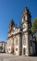 Santuario de Nossa Senhora dos Remedios at the top of the baroque staircase above Lamego in Portugal