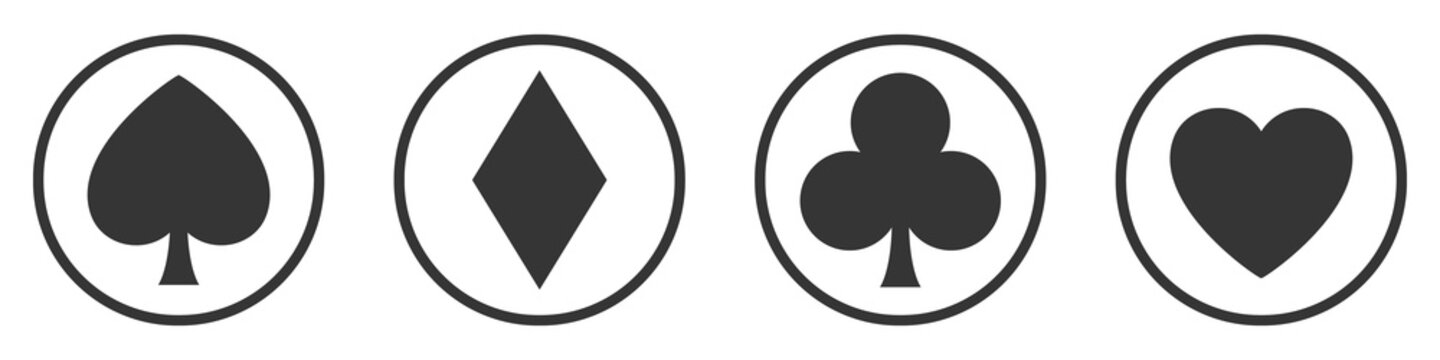 Vector set of symbols playing card casino.