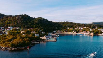 Beautiful coastline blue water in Stavanger Norway