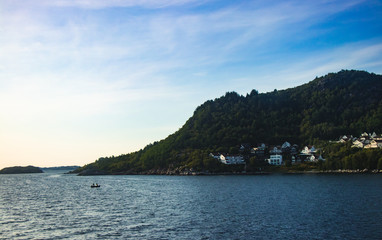 Island in Norway background