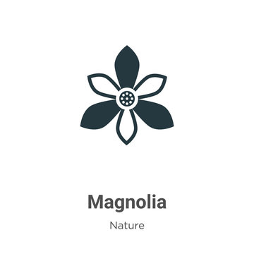 Magnolia vector icon on white background. Flat vector magnolia icon symbol sign from modern nature collection for mobile concept and web apps design.