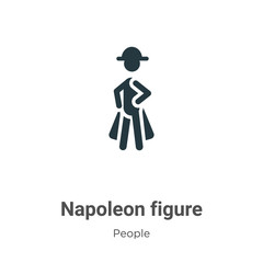 Napoleon figure vector icon on white background. Flat vector napoleon figure icon symbol sign from modern people collection for mobile concept and web apps design.