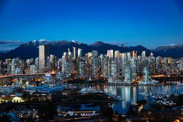 Vancouver City skyline Fotomurales