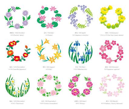 花丸(誕生月の花)デザインセット