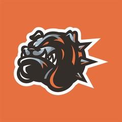 bulldog mascot head logo