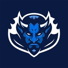 devil mascot head logo