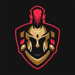spartan mascot head sport logo badges