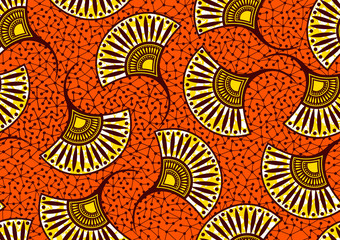african fashion seamless pattern ornament in vibrant colours, picture art and abstract background for Fabric Print, Scarf, Shawl, Carpet, Kerchief, Handkerchief, vector illustration file EPS10.