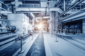 Thermal power plant interior