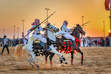 Desert  safari camel ride festival in Abqaiq Dammam Saudi Arabia.