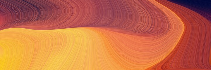 Foto op Aluminium Koraal modern curvy waves background illustration with sienna, pastel orange and sandy brown color