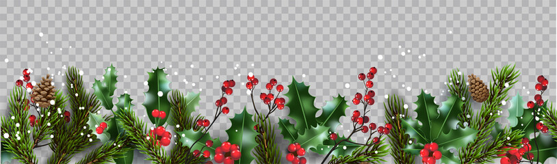 Isolated winter Christmas nature banner Fotomurales