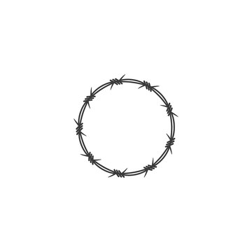Barbed wire illustration vector