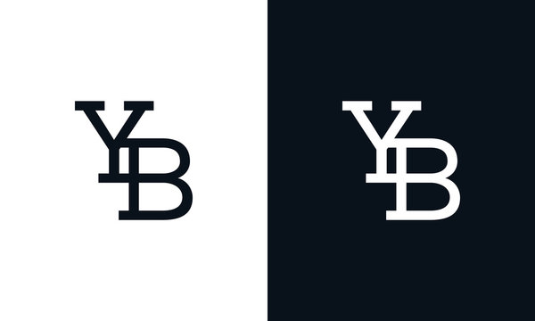 Creative line art letter YB logo. This logo icon incorporate with two letter in the creative way.