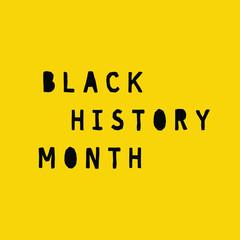 Black history month banner vector
