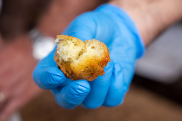 cod fritters with flour mixture typical Modena italy