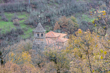 church sanctuary of the velilla in the leonese mountain