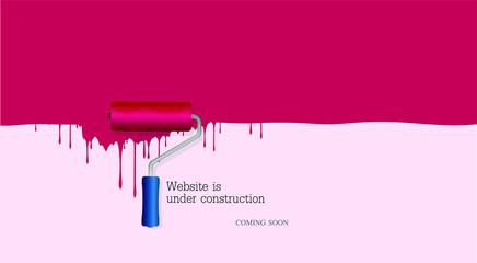 Website is under construction background