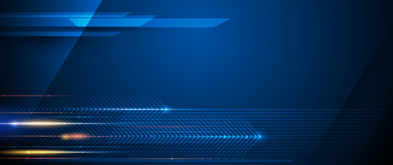Illustration of light ray, stripe line with blue light, speed motion background. Vector design abstract, science, futuristic, energy, modern digital technology concept for wallpaper, banner background