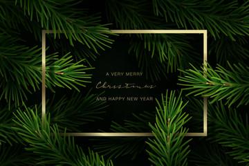 Holiday Greeting Card. Vector Illustration.