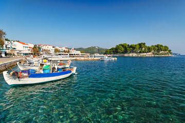 The old port in Skiathos island, Greece