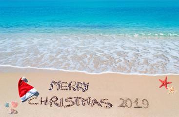 merry sandy Christmas 2019 on the sand