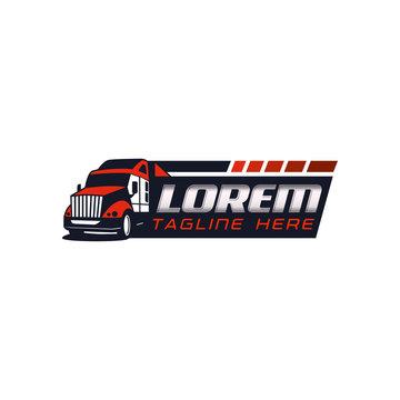 Auto Trucking Logo Vector Template