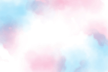 beautiful sweet cotton candy twilight sky watercolor background eps10 vectors illustration