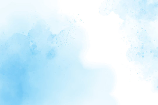 blue watercolor abstract cloudy blue sky background digital painting