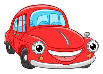 Papiers peints Cartoon voitures Cartoon smiling car