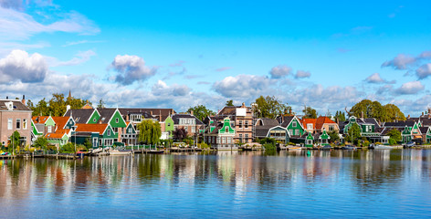Volendam village in the Netherlands. A city with a national Dutch cultural life.