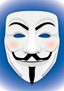 Anonymous mask symbol, vector illustraton, editorial