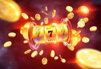 สล็อตแมชชีนสีทองชนะรางวัลแจ็คพอต