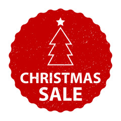Christmas Sale badge with grunge effect