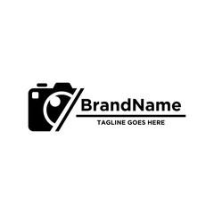 Camera logo icon vector. Simple design on white background.