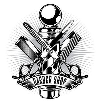 Barber Shop Hair Salon Hair Stylist Vintage King Logo Luxury Pomade Retro Royal Vector 02