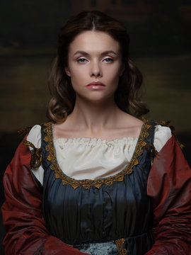 Portrait of a young woman in the style of a Renaissance painting.