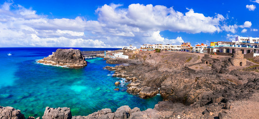 El Cotillo - scenic village in northern coast of Fuerteventura, Canary islands Fotobehang